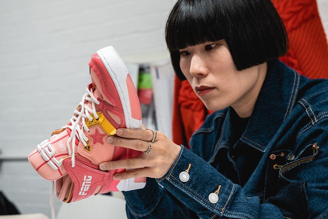 Feng Chen Wang Converse ERX Pink In Hand