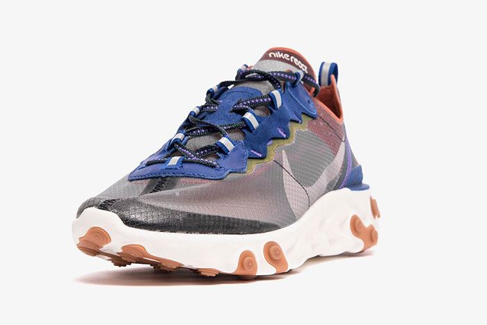 Nike React Element 87 Blue Red Toe