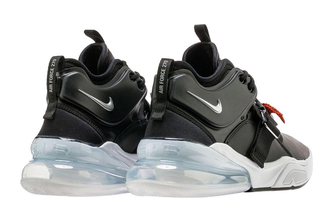 Nike Air Force 270 Black Metallic Silver White 2