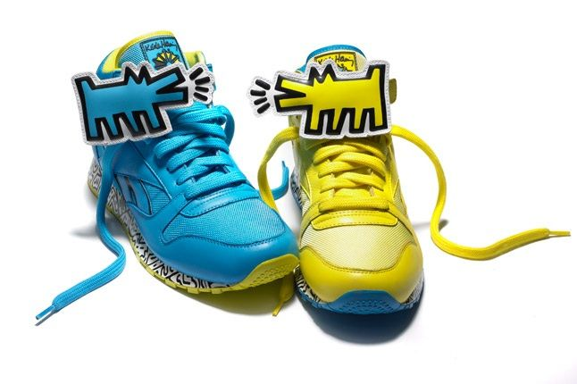 Reebok X Keith Haring Barking Dogs Blue Yellow Pack 1