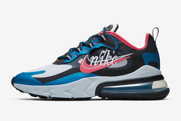 Nike Air Max 270 Reacts Script Swoosh Left Side Shot