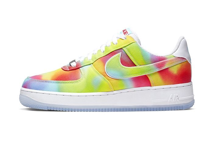 Nike Air Force 1 Low Tie Dye Chicago Ck0838 100 Release Date Lateral