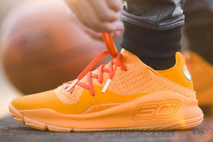 Under Armour Curry 4 Orange Sneaker Freaker