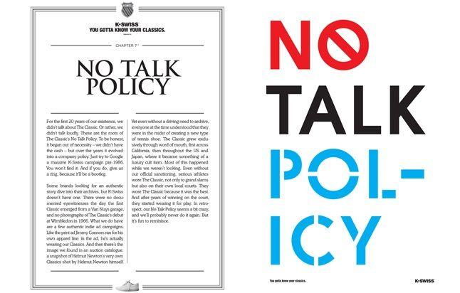 No Talk Policy 1