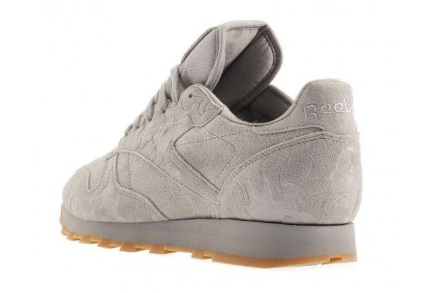 Reebok Classic Leather Embossed Camo Grey Heel