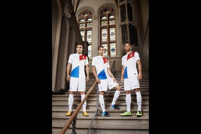 Nike Football Holland Away Jersey On Steps 1