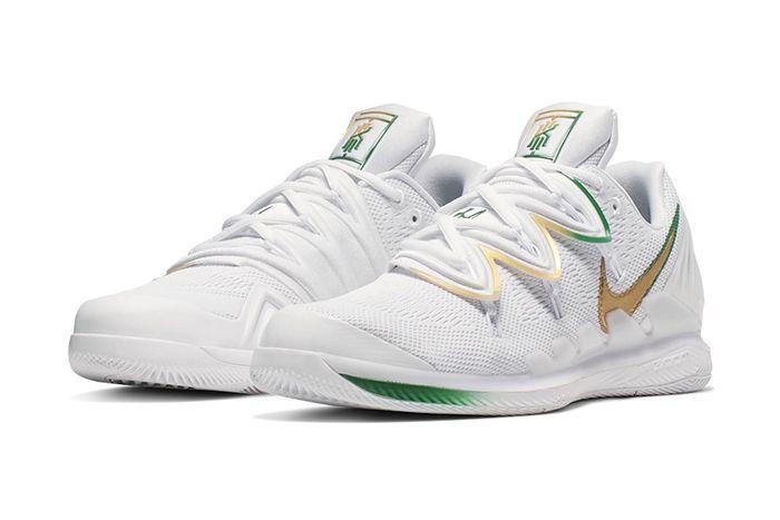 Nike Vapor X Kyrie 5 Wimbledon Release Date Pair