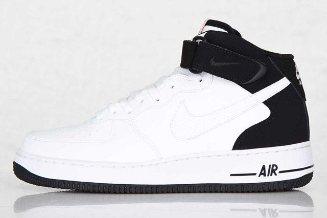Nike Air Force Mid White Black White 5