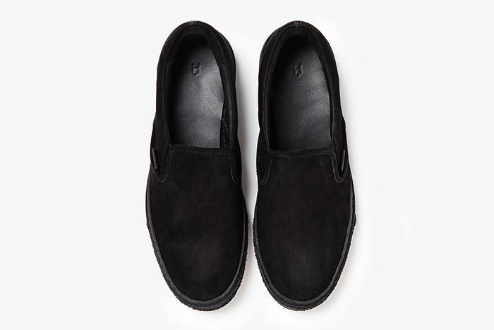 Hender Scheme Vans Slip On Black Above Shot