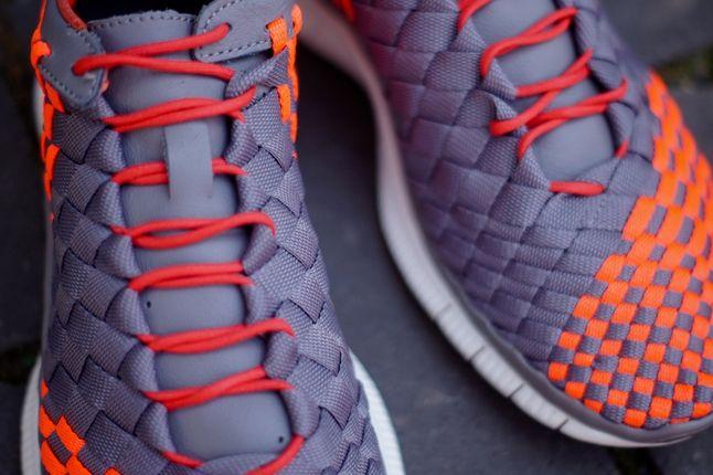 Nike Free Inneva Grey Orange Midfoot Detail 1