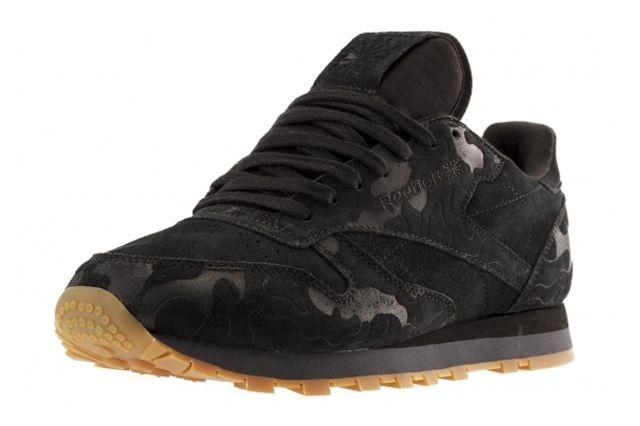 Reebok Classic Leather Embossed Camo Black Profile