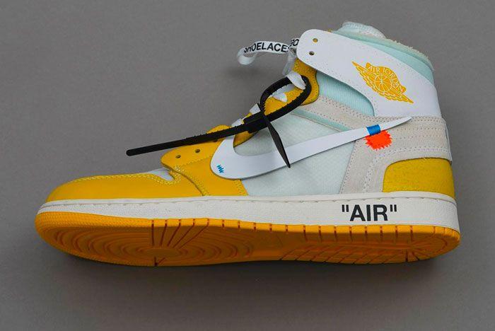 Off White Nike Air Jordan 1 Yellow