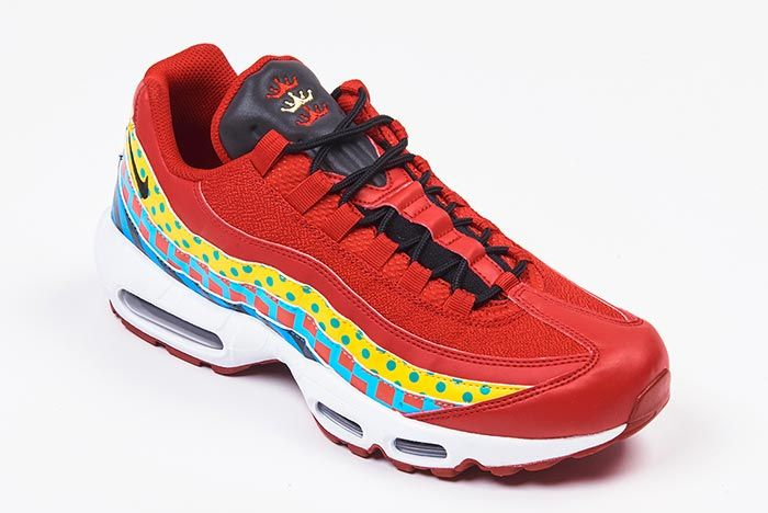 Nike Air Max 95 Foot Locker Home And Away Red White Single Three Quarter Shot