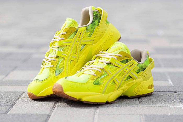 Asics Gel Kayano 5 Re Yellow Three Quarter Lateral Side Shot