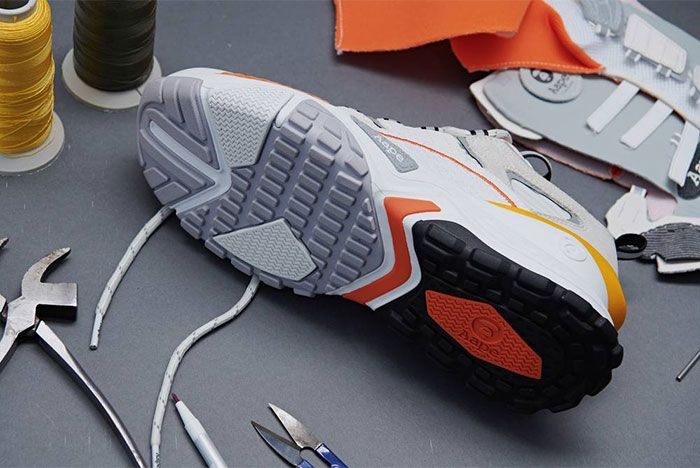 Aape Dimension White Orange Under Sole
