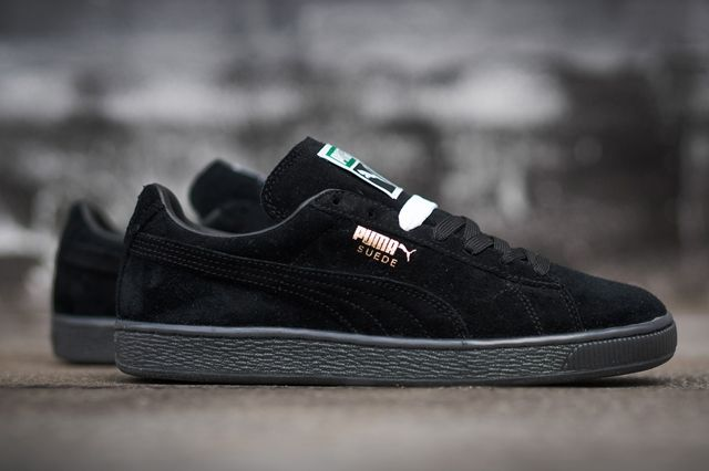 Puma Suede Black Grey 1