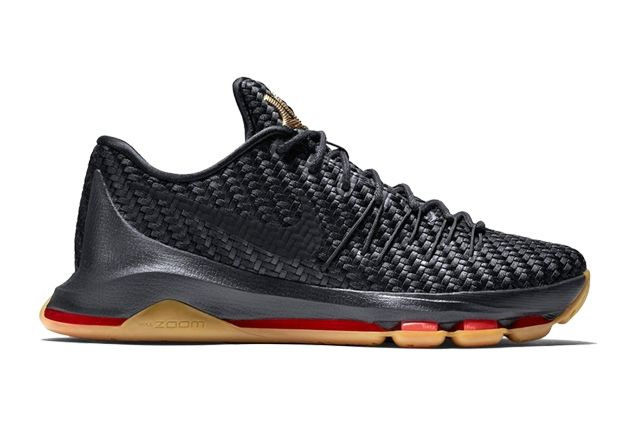 Nike Kd 8 Ext Black Gold Woven 1