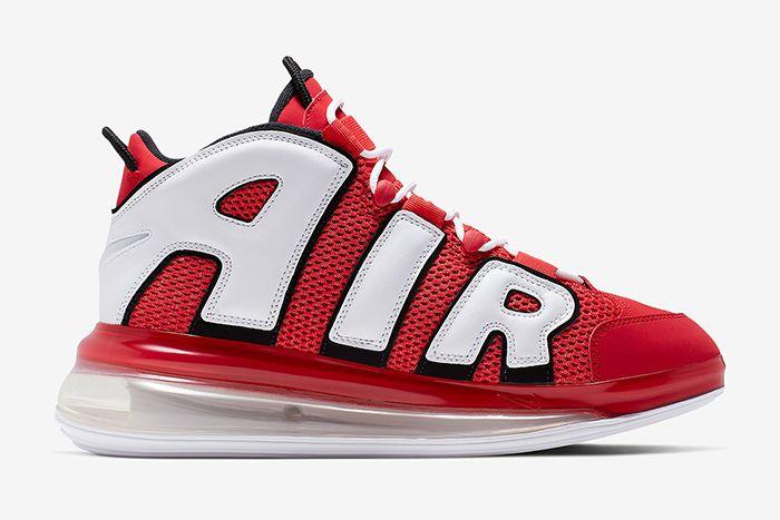 Nike Air More Uptempo 720 Hoop Pack Red Cj3662 600 Release Date Medial
