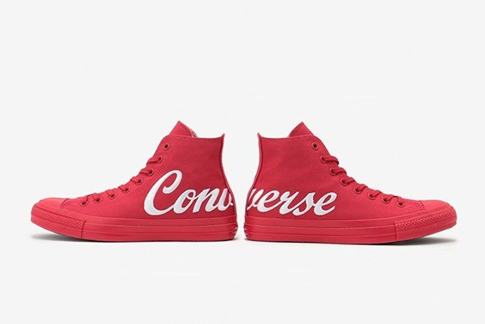 Converse Chuck Taylor Script Logo Red 1 Pair