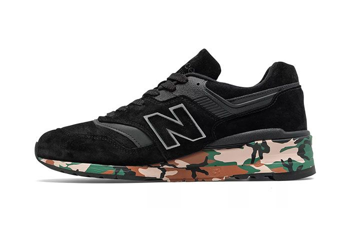 New Balance Made In Usa 997 Black Camo Side Shot Medial