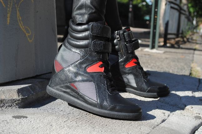 Alicia Keys X Reebok Black Red Wedge On Street 1