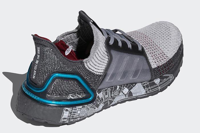 Star Wars Adidas Ultraboost 2019 Millennium Falcon Heel Angle