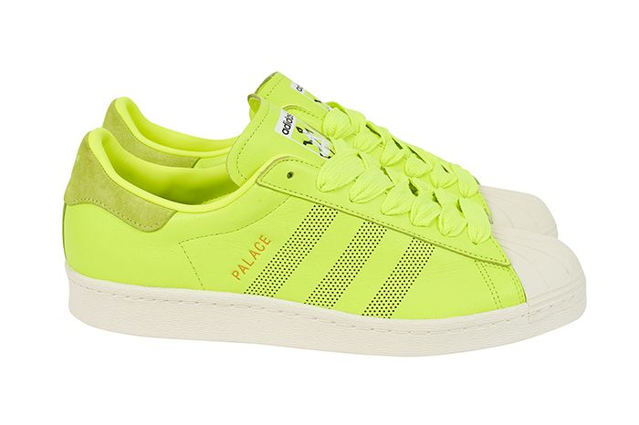 Palace Adidas Superstar 2019 Neon Yellow Release Date Pair