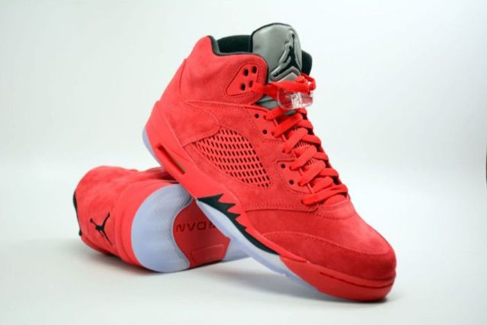 Air Jordan 5 Red Suede5