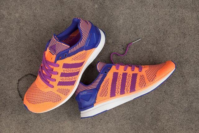 Adidas Primeknit Feather Womens Flash Orange 1