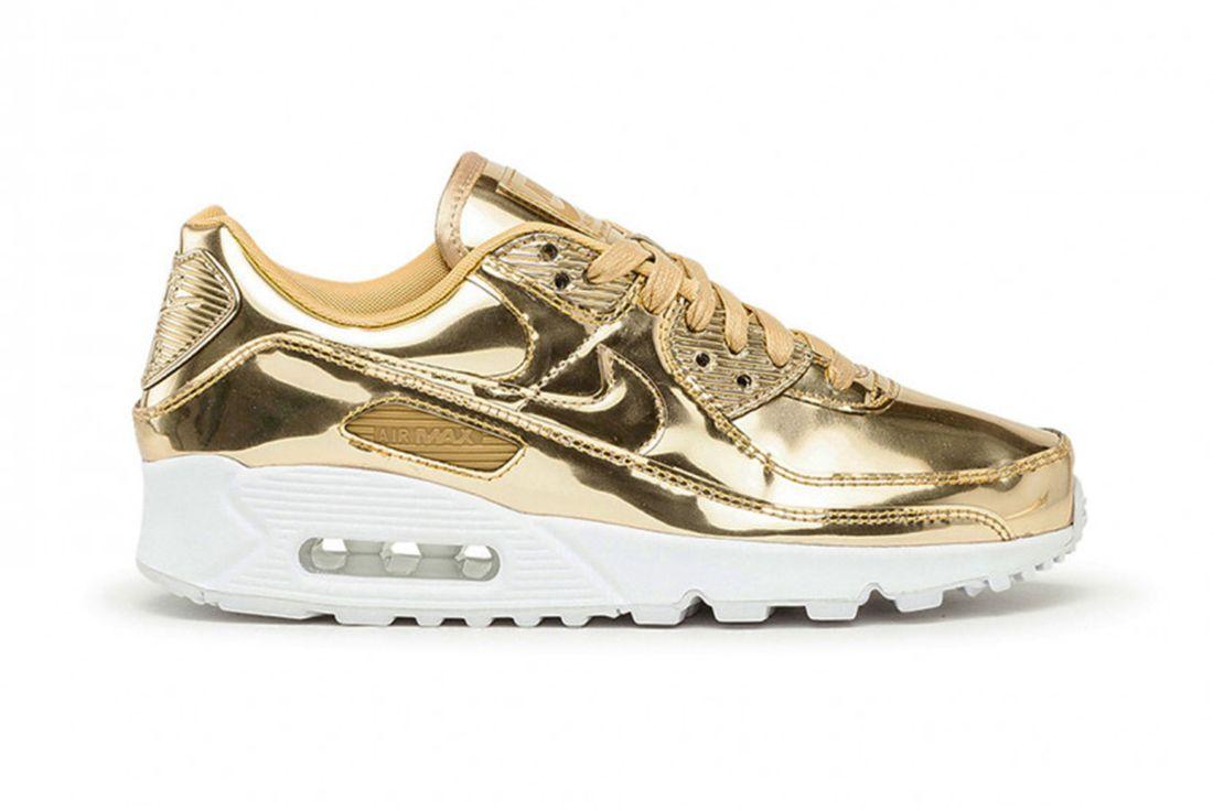 Nike Air Max 90 Metallic Gold Right