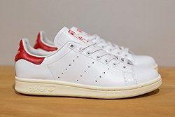 Adidas Stan Smith White White Red Thumb