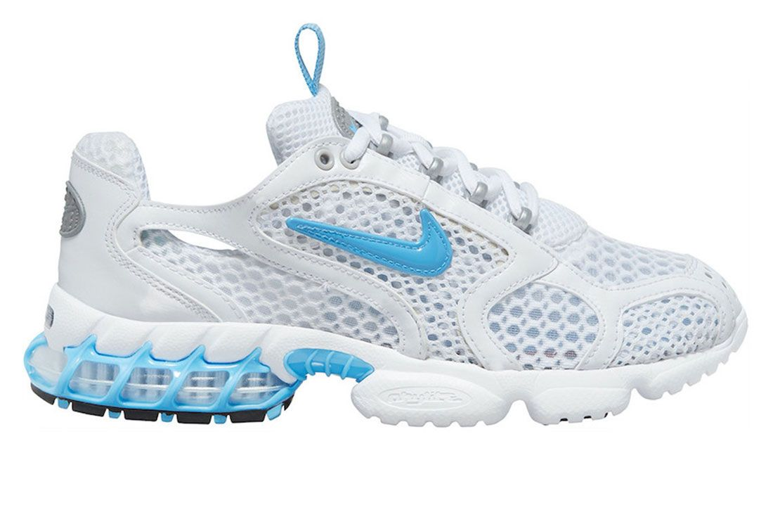 Nike Zoom Spiridon Cage 2 White Baby Blue Lateral