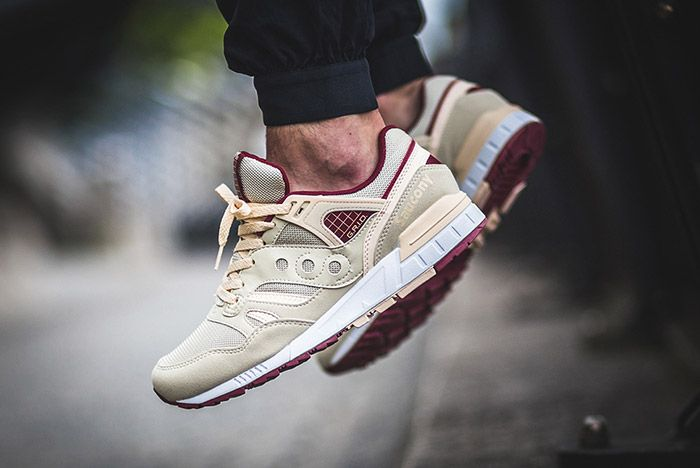 Saucony Grid Sd Cream Burgundy 2
