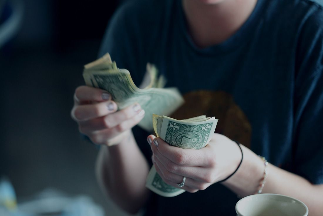 Counting Cash Stock Photo