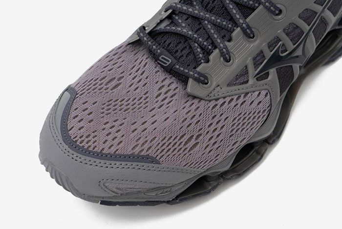 Mizuno Wave Prophecy 9 Gray Toebox
