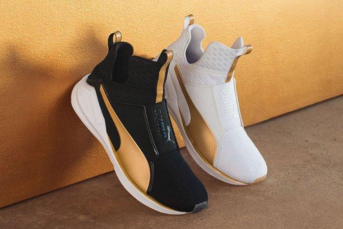 Puma Fierce White Black Gold 1