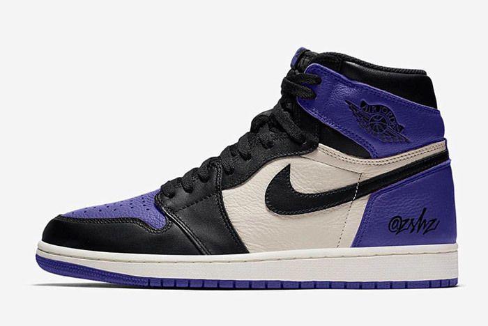 Air Jordan 1 Court Purple Sail