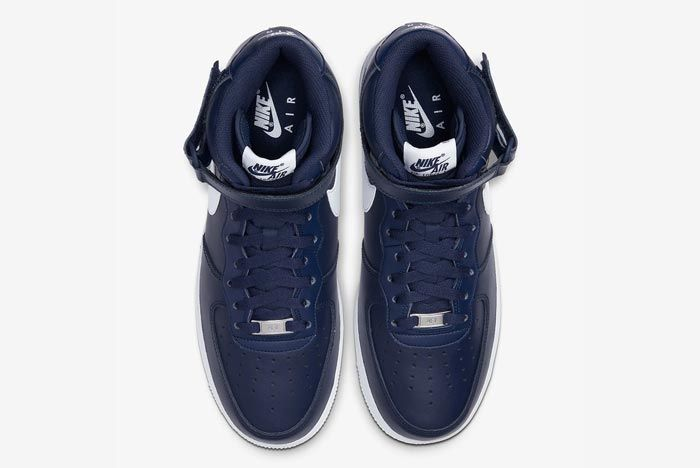 Nike Air Force 1 Mid Navy White Top