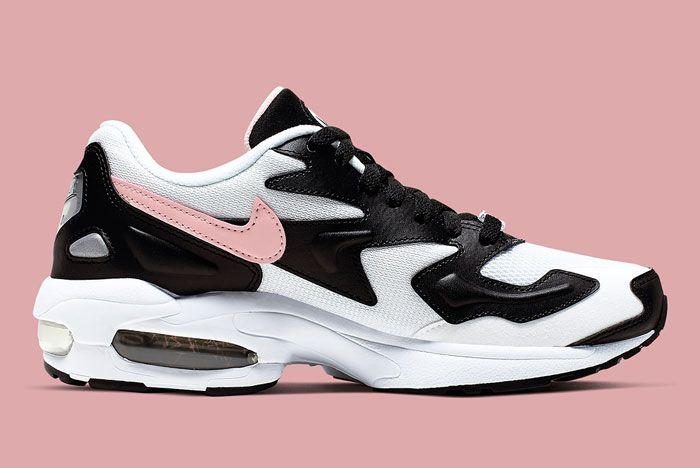 Nike Air Max 2 White Black Pink Lateral Inside