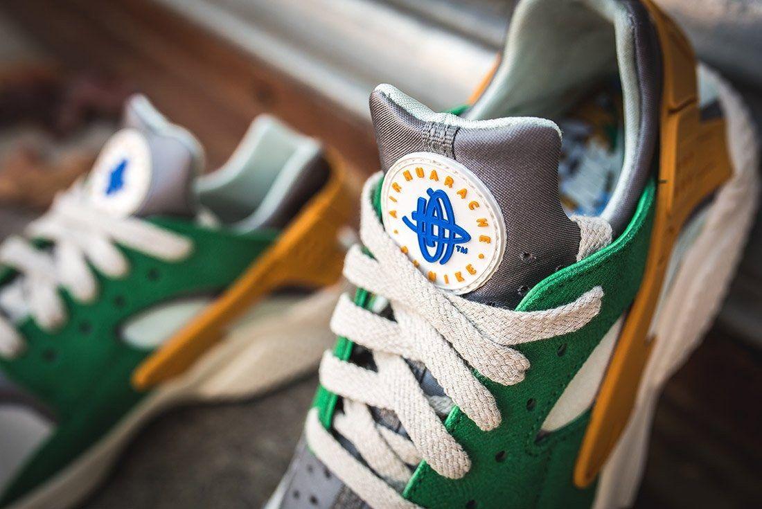 Nike Air Huarache Se Pine Green Gold Leaf5