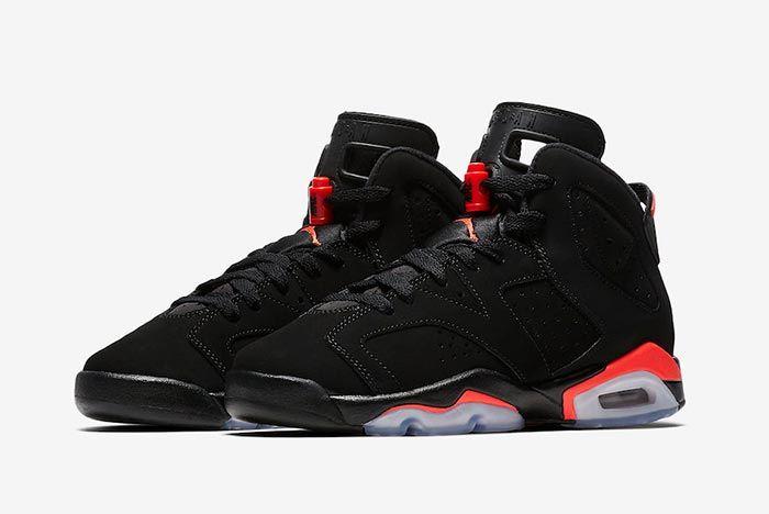 Air Jordan 6 Black Infrared Childrens 1