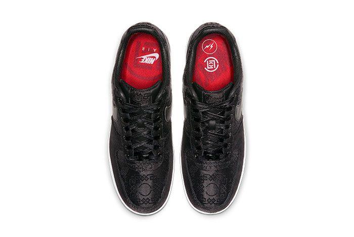 Nike Air Force 1 Clot Black Silk Right Top