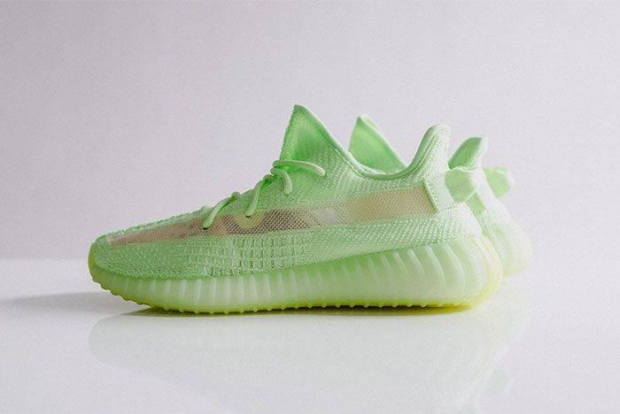 Adidas Yeezy Boost 350 V2 Glow In The Dark Left