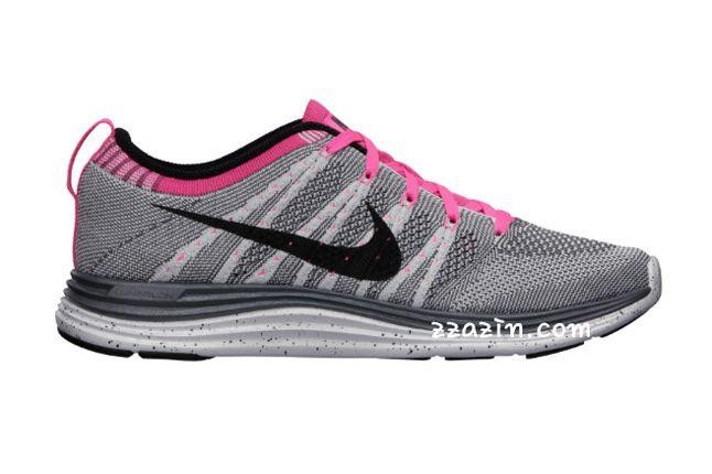 Nike Wmns Flyknit Lunar1 Grey Pink 1