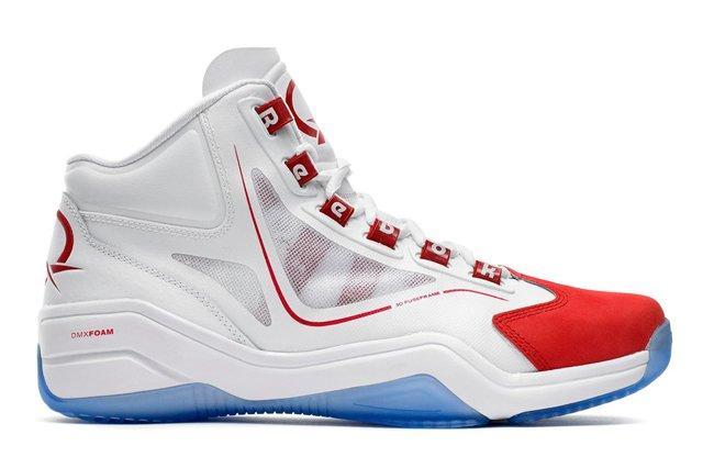 Reebok Basketball Q96 White Red Profile