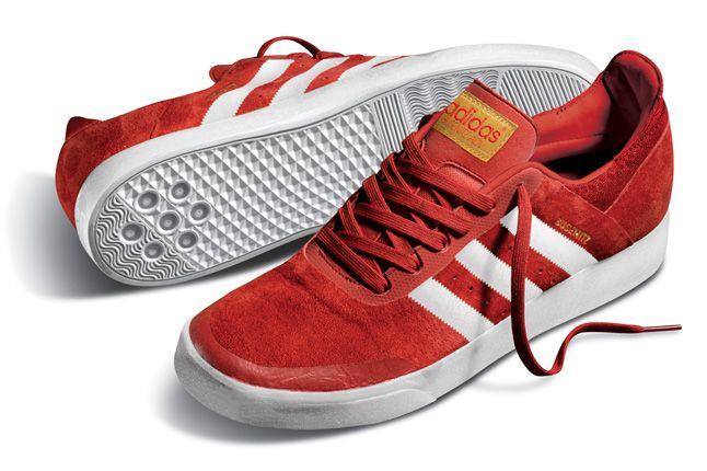 Adidas Busenitz Adv Red Sole Pair 1