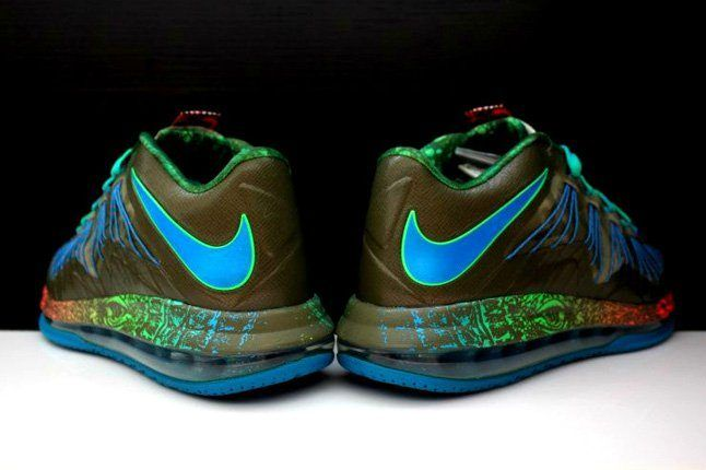 Nike Lebron X Low Tarp Green 2
