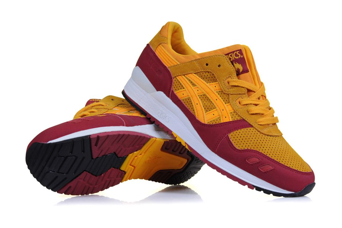 hanon asics gel lyte iii wildcats three quarter lateral angle shot