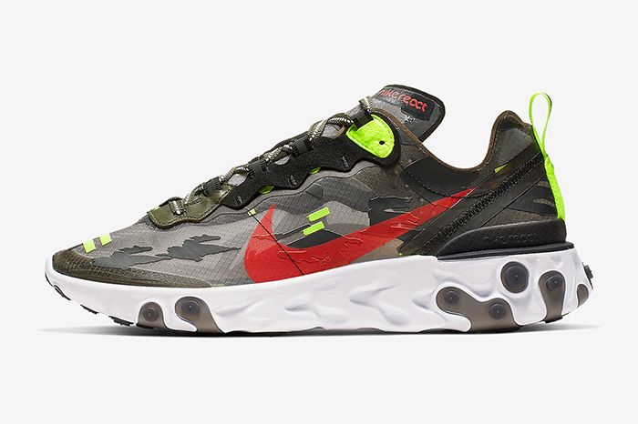 Nike React Element 87 Camo Cj4988 200 Release Date Lateral