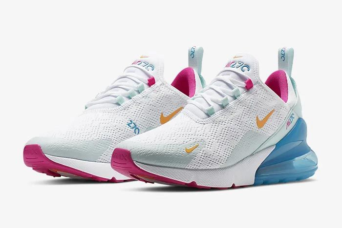 Nike Air Max 270 Womens Laser Fuchsia Pair